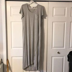 Poetry Maxi Dress hemp and cotton